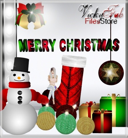 Christmas Meshes Bundle (10 textured meshes) WITH RESELLING RIGHTS