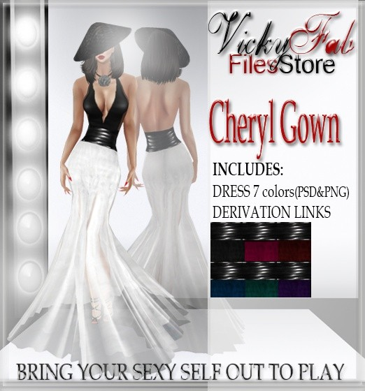 Cheryl Dress 8 colors (PSD&PNG)
