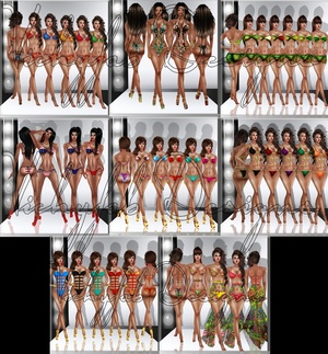 Bundle of 8 Swimwear (PSD and PNG)