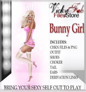 Bunny Girl Bundle CHKN & PNG