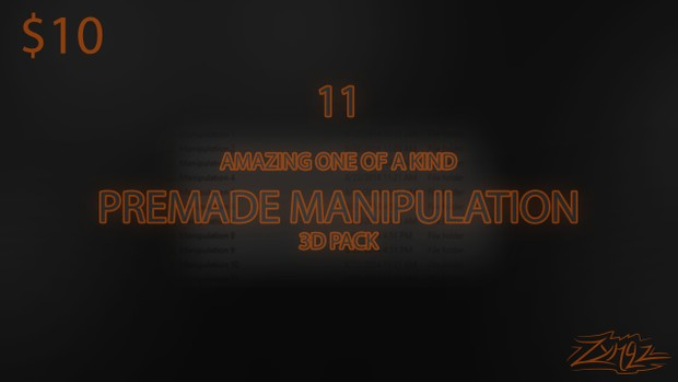 3D Premade Manipulations Pack