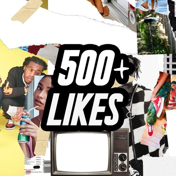 500 Like Collage