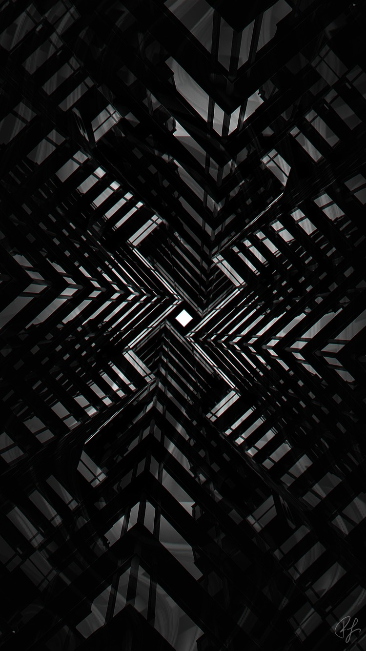 Free Abstract Black White Iphone Wallpaper Screensaver Lockscreen Background Design