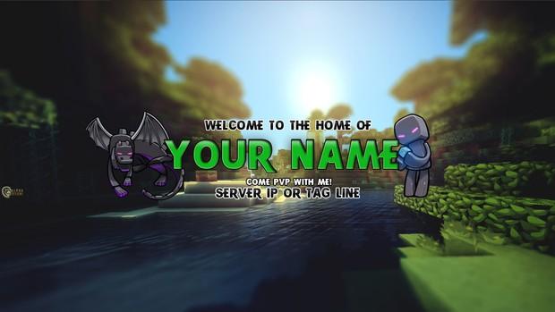 Minecraft YouTube Banner - Jungle Theme