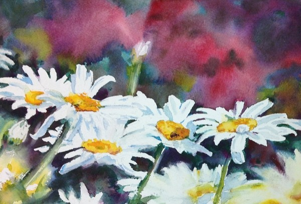 """Daisies in the Rough"" Watercolor Original"