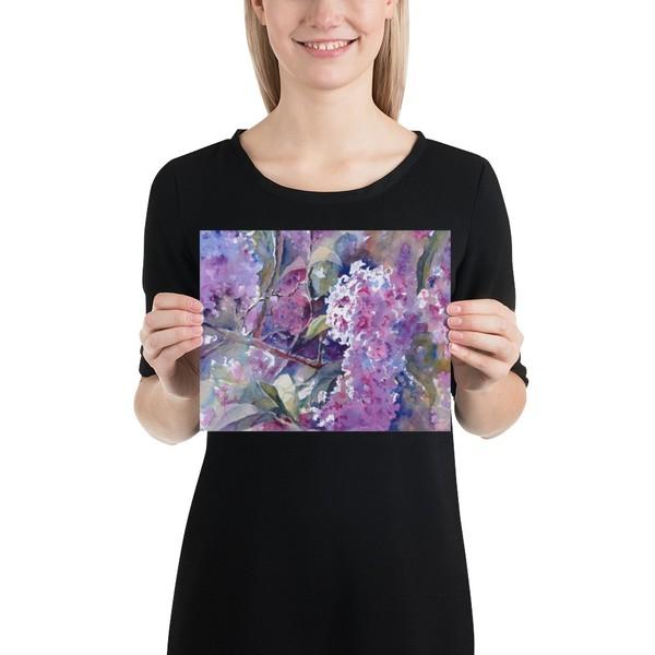 """Karlye's Lilacs"" Small Print on Demand"