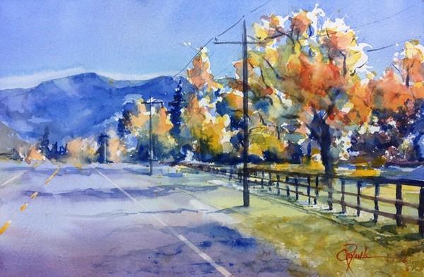 """Route 395"" Watercolor Painting Original"