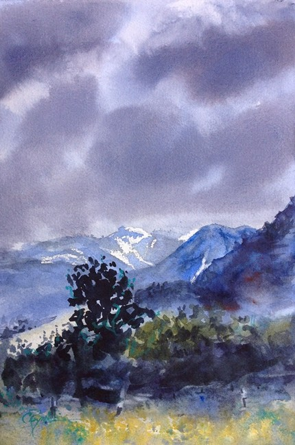 """""""High Country"""" Watercolor Painting Original"""