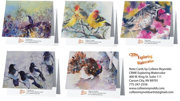 Set of Note Cards with Bird Theme