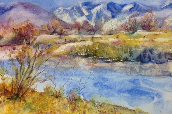 """Winter Textures"" Watercolor Original"