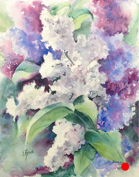 Lilacs II Watercolor Painting - SOLD