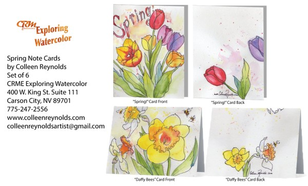 Set of Note Cards with Spring Theme