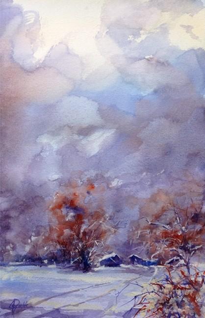 """""""Hush"""" Watercolor Painting Original"""