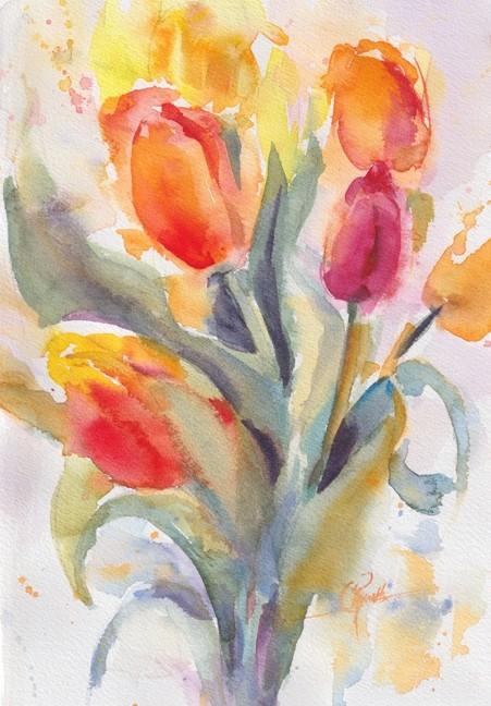 Tulips! - Watercolor Original