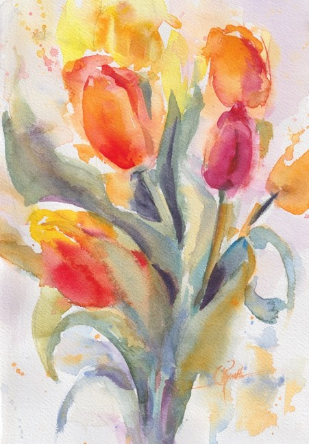 Tulips! - Watercolor Original