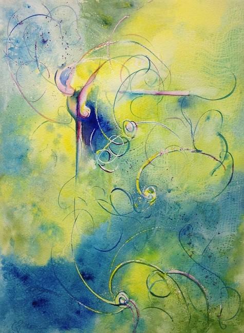 """Aqueous Gate"" Watercolor Painting Original"