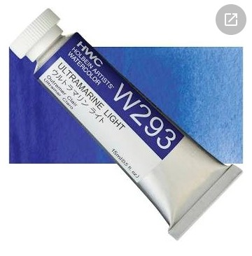 Ultramarine Light Watercolor Pigment by HOLBEIN