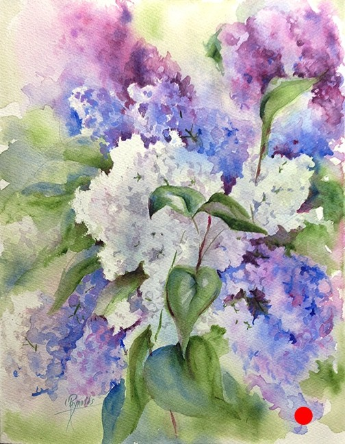 Lilacs I Watercolor Painting - SOLD