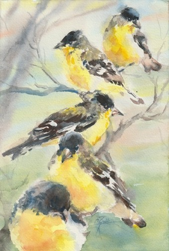 """Curious Finch"" Watercolor Original"