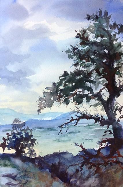 """""""Kingsbury Grade"""" Watercolor Painting Original"""