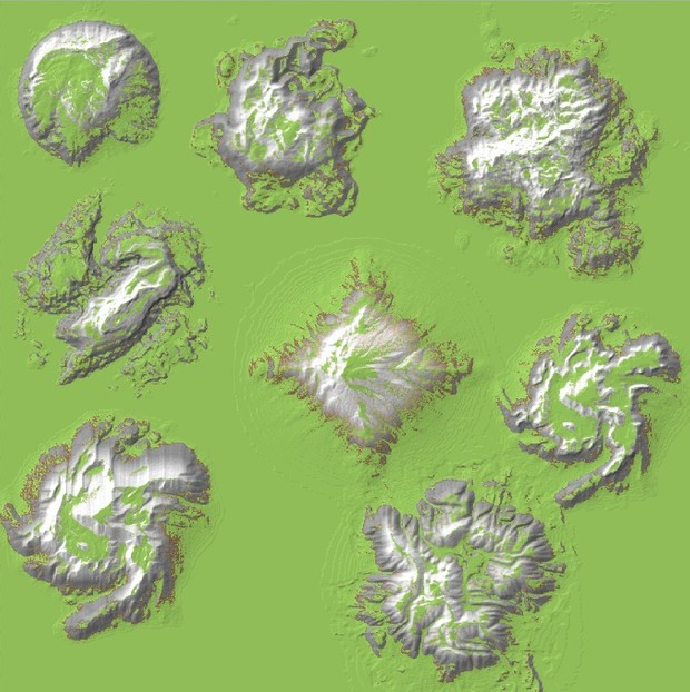 Epic Mountain Brush Pack - For ZBrush, Mudbox, or WorldPainter.