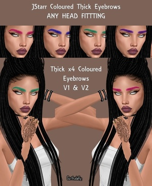 JStarr Coloured Thick EYEBROWS - 2 VERSIONS - RESELLS RIGHTS
