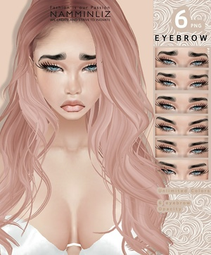 6 Eyebrow Unlimited Colors PSD - RESELLS RIGHTS