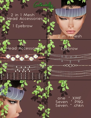 MESH + Accessories - EYEBROWS & HEADBANDS - RESELLS RIGHTS
