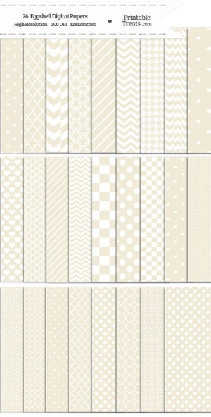 26 Eggshell Digital Paper Set Password