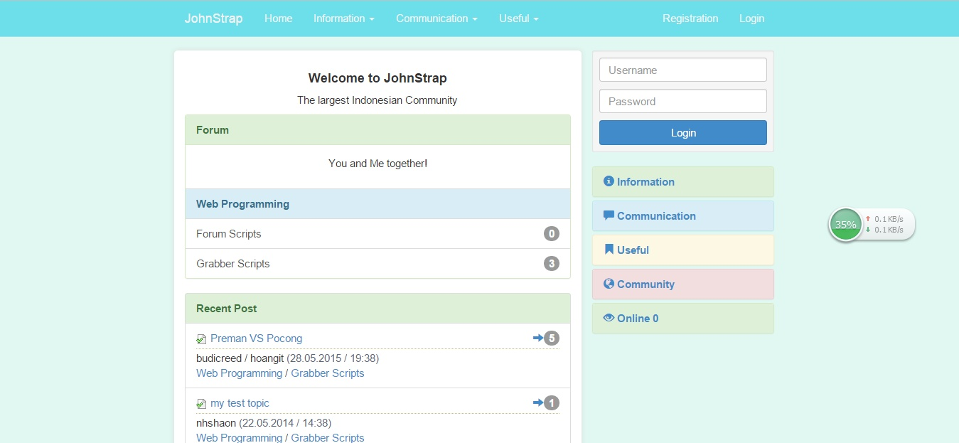 getbootstrap com templates - johncms bootstrap achunk17