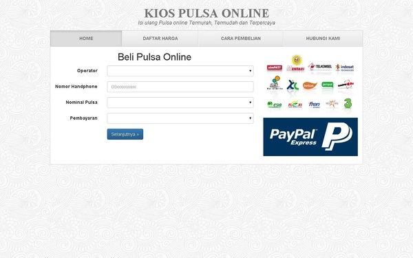 Script PHP Untuk Jualan Pulsa Online
