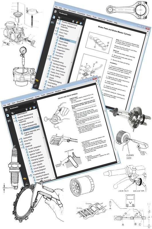 Honda Common Motorcycles, Scooters, ATV's & PWC's Service Repair Workshop Manual 2004 Onwards