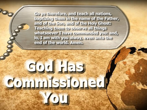 God Has Commissioned You video