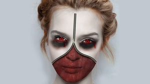 Photoshop Tutorial: Making Zipper Face Halloween