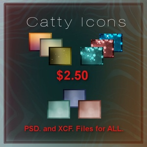Freebie Catty Icons.. Bubbles, Luminous, and Ambient Designs