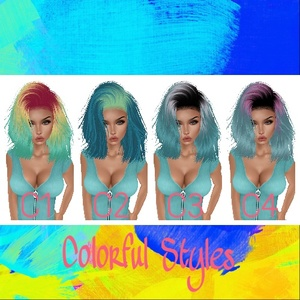 Colorful Hair Textures