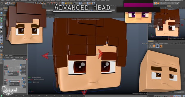 NEW) iRichard Rig V5 | C4D Character Rig | By: @_iRic
