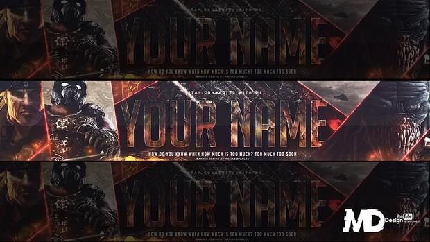 Banner Gears of war | Psd Free Download | By Matias D