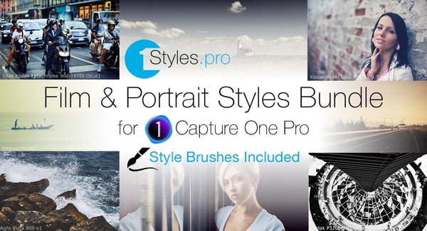 Film and Portrait Styles Bundle (Style Brushes Included)