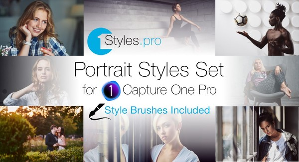 Portrait Styles Set (Style Brushes Included)