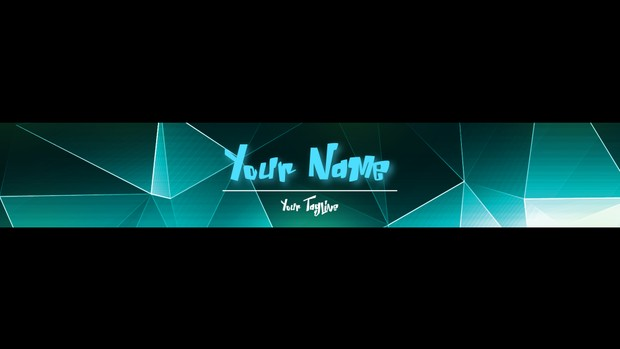 Abstract Youtube Banner Customisable