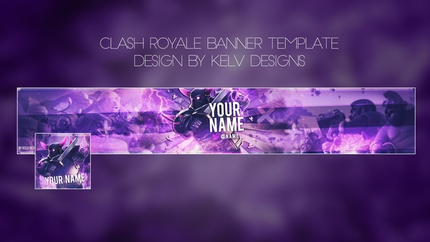 clash royale youtube banner template