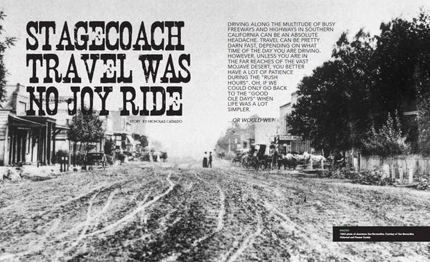 Stagecoach Travel Was No Joy