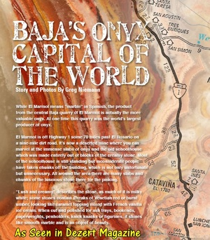 Baja's Onyx Capital of the World