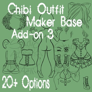 Waitress Chibi Clothing Maker Add-On 3!