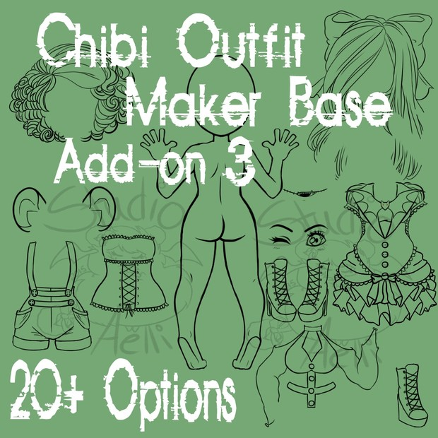 Waitress Chibi Clothing Maker Add-On 3!