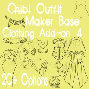 Waitress Chibi Clothing Maker Add-On 4!