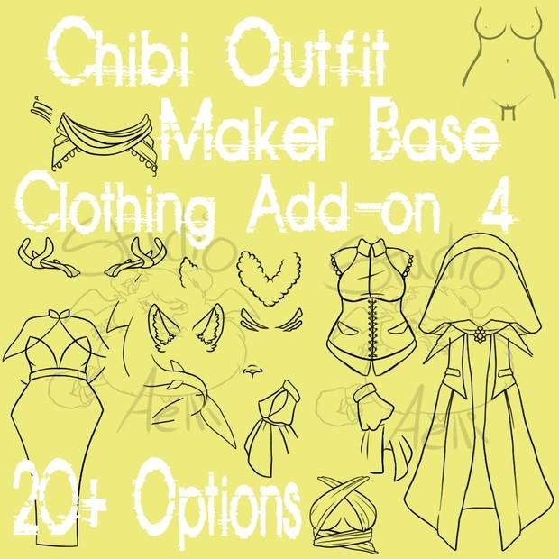 Waitress Chibi Clothing Maker Add-On 4!