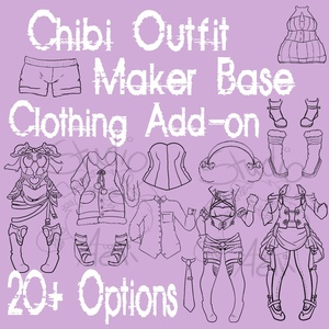 Waitress Chibi Outfit Maker Clothing Add-On