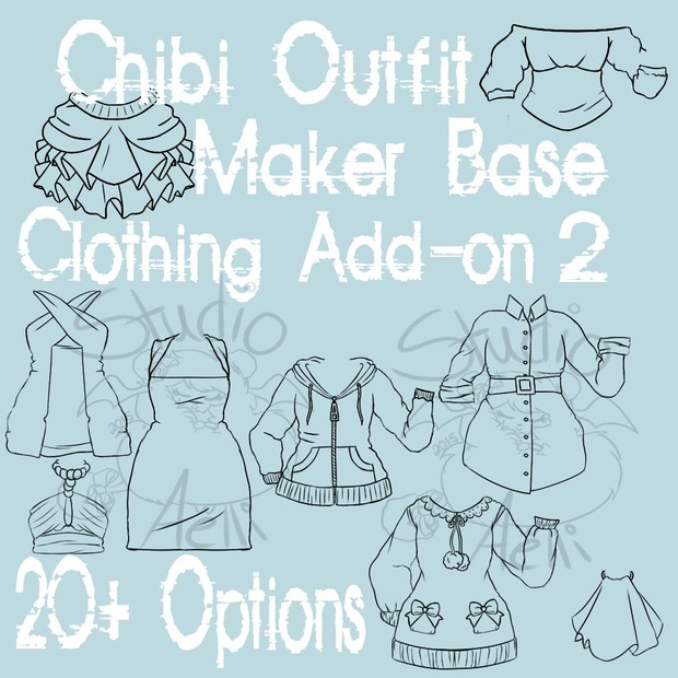 Waitress Chibi Outfit Maker Clothing Add-On 2